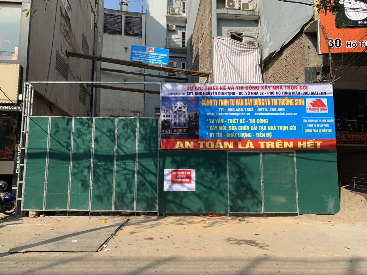 [DA] Thiết kế, thi công xây nhà mặt phố trọn gói cho Bác Tịnh tại Cầu Giấy, HN (1 tầng hầm+7 tầng nổi)