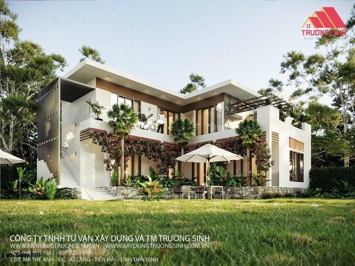 Dự án thiết kế, thi công biệt thự nhà vườn trọn gói tại Tiền Hải, Thái Bình